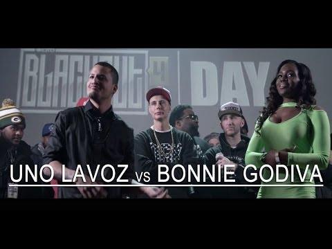 KOTD - Rap Battle - Uno Lavoz @Unolavoz215 vs Bonnie Godiva @BonnieGodiva