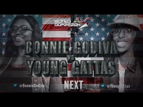 KOTD - Rap Battle - Bonnie Godiva vs Young Gattas