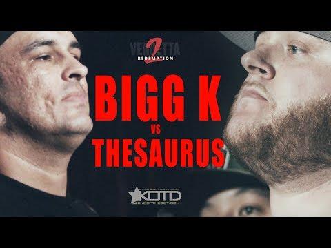 KOTD - Rap Battle - Bigg K vs The Saurus