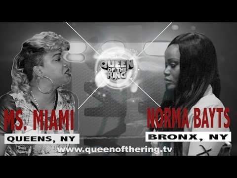 BABS BUNNY & VAGUE   QUEEN OF THE RING   NORMA BAYTS vs MS MIAMI
