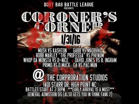 #BBBL PRESENTS -CORONERS CORNER - B INGRAM VS DAVID JONES  HOSTED BY DJ FREEZE 500%