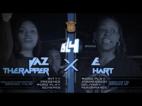 JAZ THE RAPPER VS E-HART SMACK/ URL RAP BATTLE