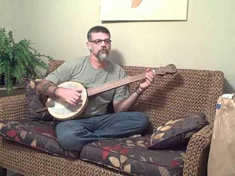 Alabama Joe on My 1st. Self Made Banjo