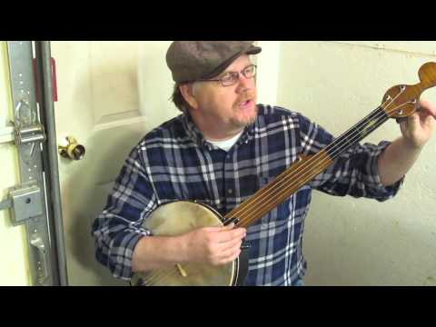 Minstrel Banjo with sliding bridge - no capo needed - Civil War music