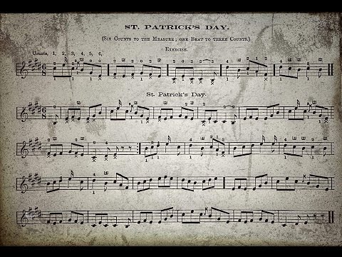 "St Patrick's Day ""Frank.B.Converse"" ...1865... Cello Banjo.."