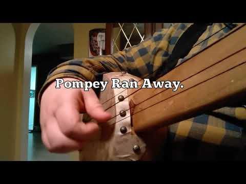 Pompey Ran Away on early gourd banjo with horse hair strings