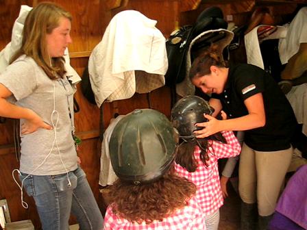fitting helmets