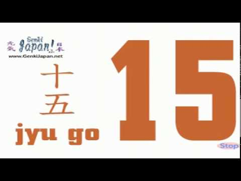 Learn Japanese Numbers 1 to 20