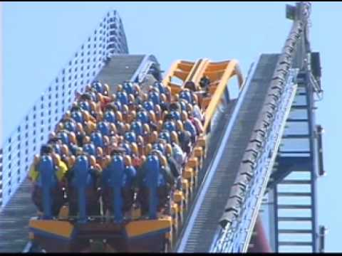 Scream Roller Coaster at Six Flags Magic Mountain Grand Opening