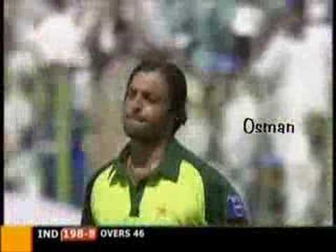 Shoaib Akhter destroying Irfan Pathan with a perfect yorker