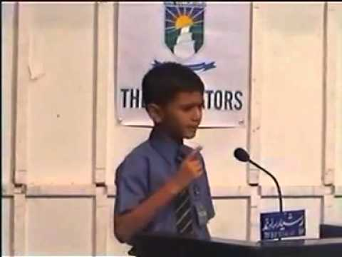 A great Speech By A Young Pakistani.