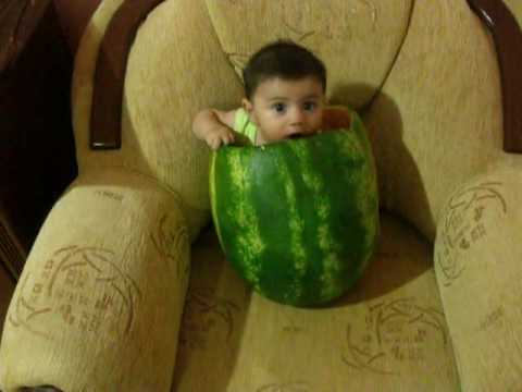 a boy in watermelon