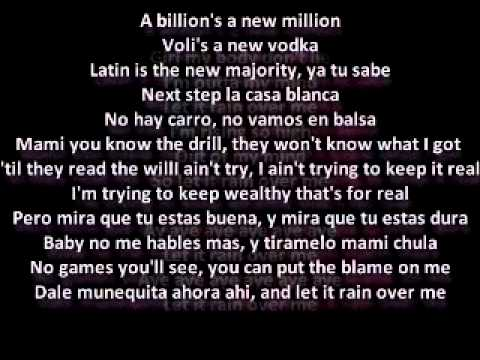 Let it rain over me - Pitbull ft.Mark Anthony(lyrics)