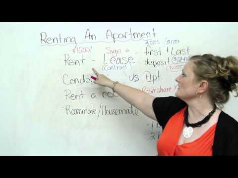Vocabulary - Renting an Apartment