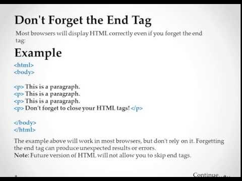 Chapter 7   HTML Paragraphs