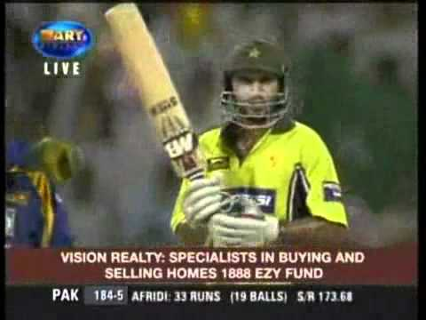 Shahid Afridi 6 Sixes in over -