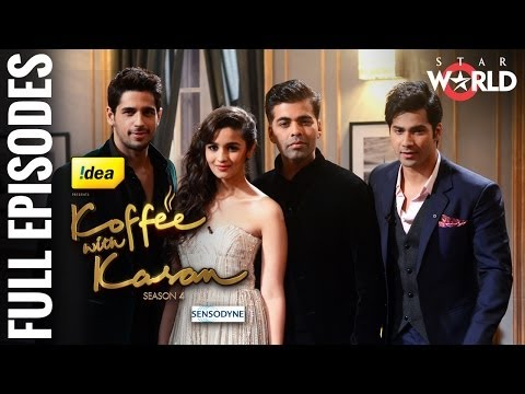 Koffee With Karan - Season 4 -- Alia Bhatt, Varun Dhawan and Siddharth Malhotra - [Full Episode]