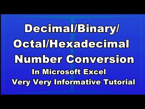 Decimal Number Conversion (First time in Excel)