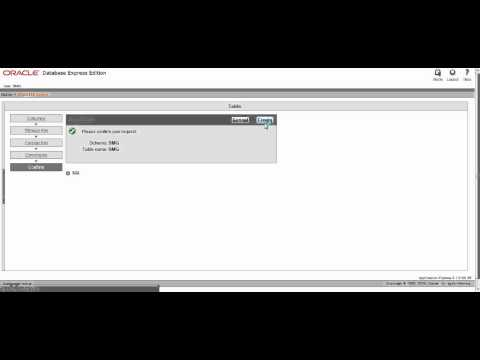 How to create a database with Oracle