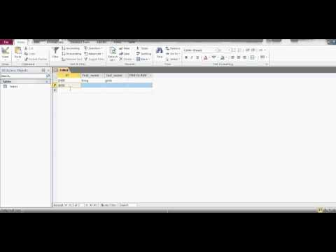 How to create a database in Microsoft Access 2010