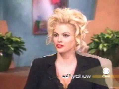 Anna Nicole Smith is asked if Howard Stern is her handler