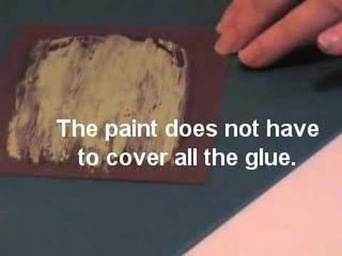 Cracked or peeled paint technique