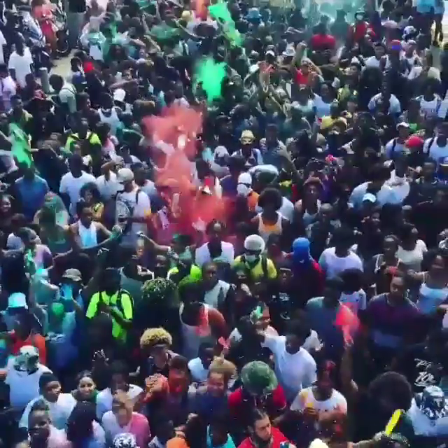 St. Maarten Jouvert in full force!