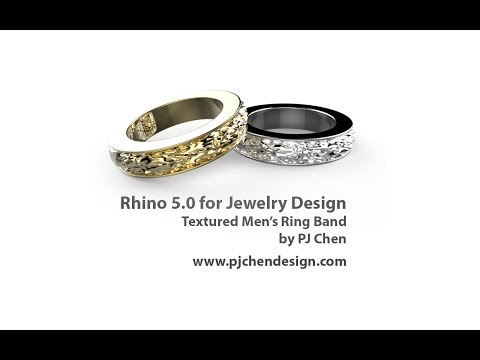 How to build a men's textured ring band in Rhino 5.0