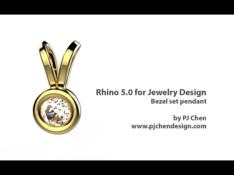 Rhino 5 for Jewelry Design- bezel set pendant
