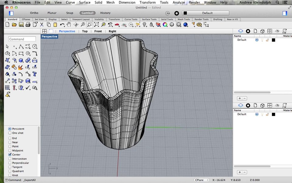 Rhino: Intro to 3D Printable Organic Modeling