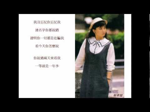 """Delphine Cai Xing juan """"What can you say?"""" with lyrics"""