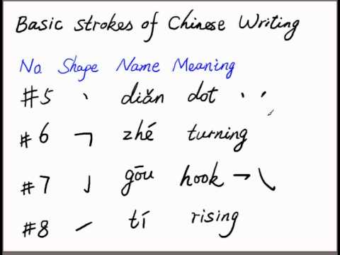 Learn how to write Chinese characters 2 - More strokes