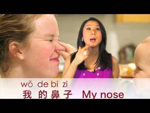 Learn Body Parts in Mandarin Chinese! Head, eyes, nose, mouth, shoulders, etc.