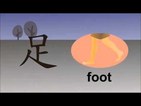 Chinese character for Foot