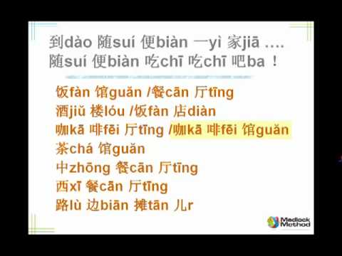 Chinese Language Builder - Food and Drink 1