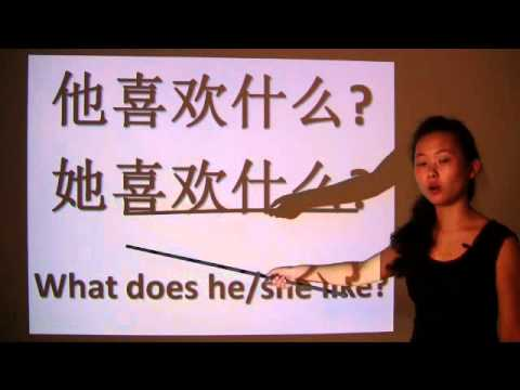 How to say like in Chinese - video lesson