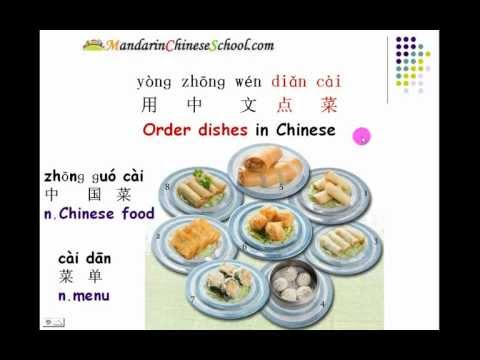 Chinese Food & How to order dishes in a Chinese Restaurant 在中国餐馆点菜