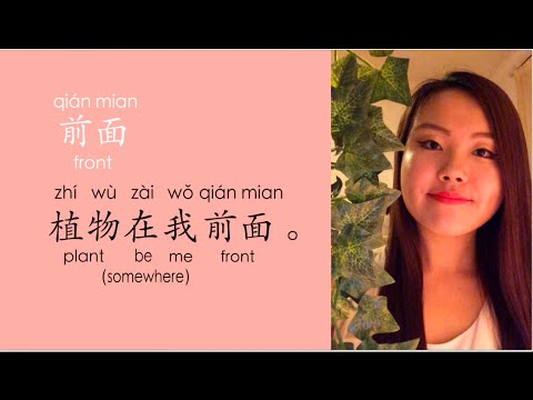 How to say, under, front, behind & on something spatial words in Mandarin