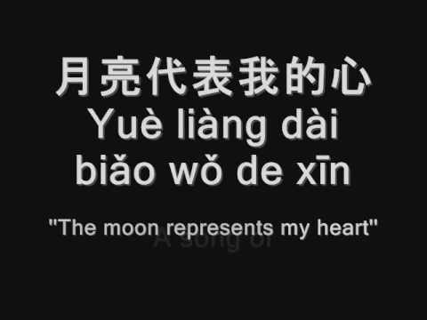 KTV lyrics for ''The moon represents my heart'' -月亮代表我的心 - Teresa Teng