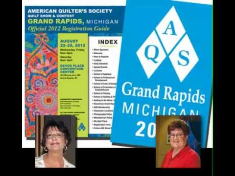 """AQS Quilt Show and Contest -- Grand Rapids"" Sneak Peak with Sally Terry and Bonnie Browning"