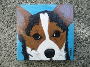 My Latest Corgi Painting. Available on E-bay. A portion of the final sale price will go to CorgiAid.