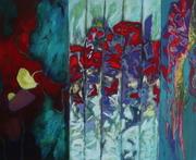 Dialogues vert émeraude 81  x 100 cm