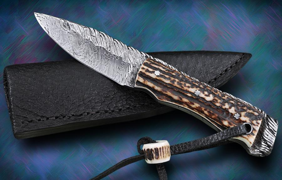 Ariel Salaverria Cable Damascus Fixed Blade