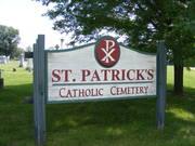 St. Patrick's Catholic Cemetery, Albany, Wisconsin, USA
