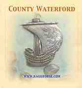 County Waterford inspired Pewter Ship Brooch by Nagle Forge & Foundry