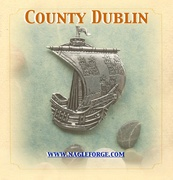 County Dublin inspired Pewter Ship Brooch by Nagle Forge & Foundry