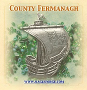County Fermanagh inspired Pewter Ship Brooch by Nagle Forge & Foundry