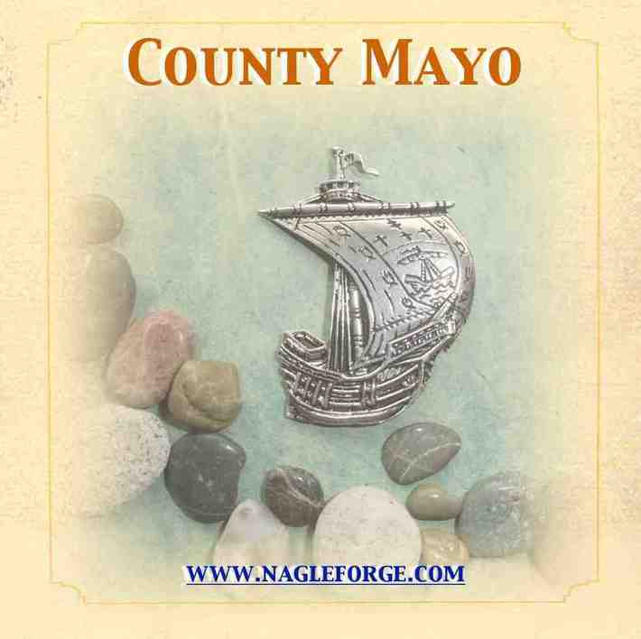 County Mayo inspired Pewter Ship Brooch by Nagle Forge & Foundry