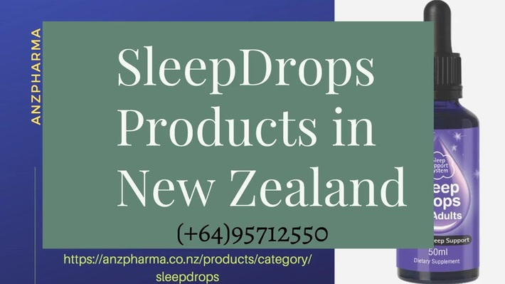 Check out SleepDrops Products in New Zealand - ANZPharma