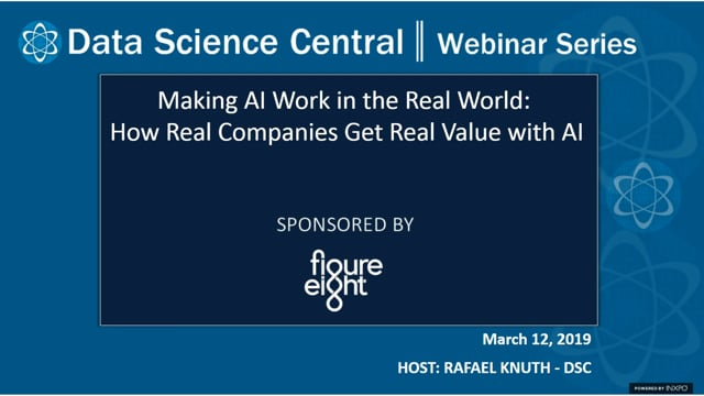 DSC Webinar Series: Making AI Work in the Real World: How Real Companies Get Real Value with AI